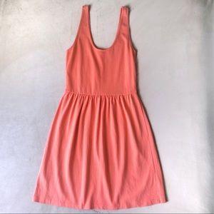 J.Crew Factory Orange Cotton Button Back Sundress